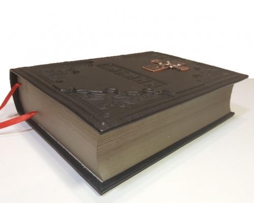 Библия в кожанном переплете с метал. вставкой –  Магазин Икон | Фотография 2