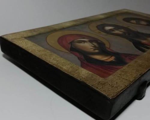 Икона Деисус ручной работы
