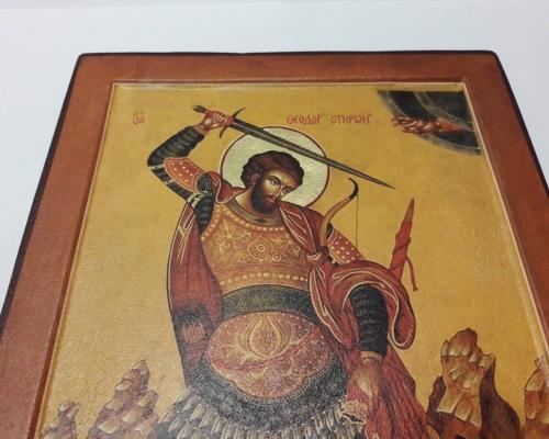 Икона Георгия Победоносца ручной работы –  Магазин Икон | Фотография 4