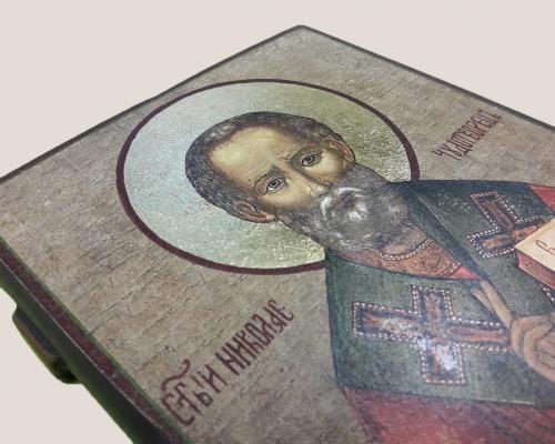 Икона Чудотворца под старину –  Магазин Икон | Фотография 5