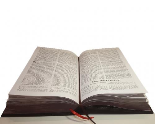 Библия в кожанном переплете + метал. вставка –  Магазин Икон | Фотография 4