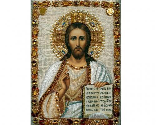 Иконы Спасителя Иисуса Христа бисером