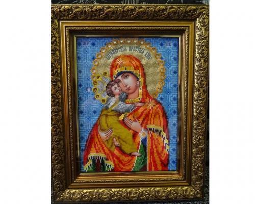 Иконы бисером Божья Матерь