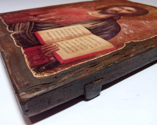 Икона Спасителя Христа ручной работы