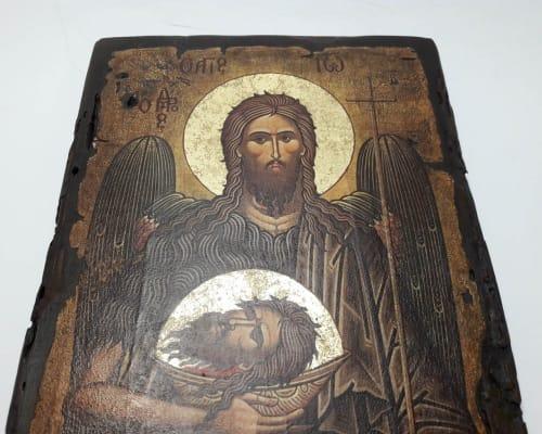 Икона Иоанна Предтечи ручной работы