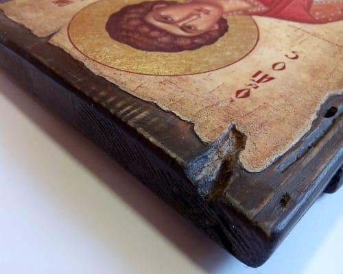 Икона Святого Пантелеймона ручной работы