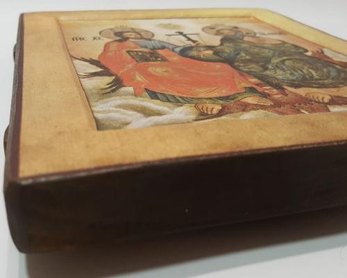 Икона Святой Троицы ручной работы –  Магазин Икон | Фотография 2