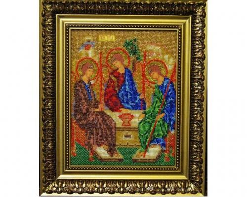 Иконы Святая Троица бисером –  Магазин Икон | Фотография 1