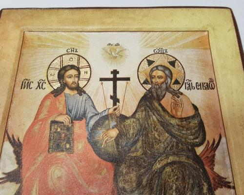 Икона Святой Троицы ручной работы –  Магазин Икон | Фотография 3