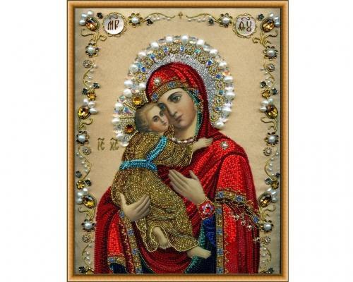 Иконы Владимирской Богоматери бисером
