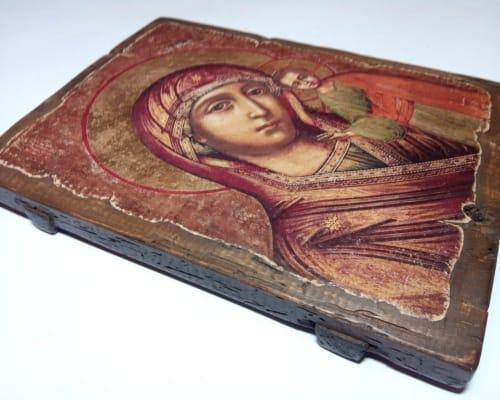 Икона Пресвятой Богородицы под старину
