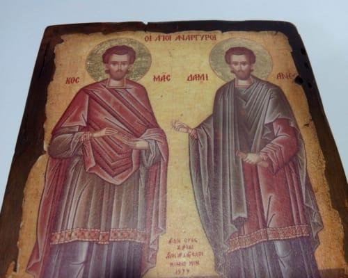 Ікона Косми і Даміана ручної роботи