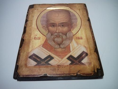 Икона Чудотворца под старину