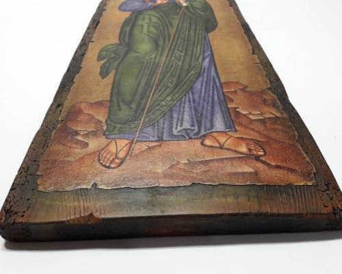 Икона Андрея Первозванного ручной работы
