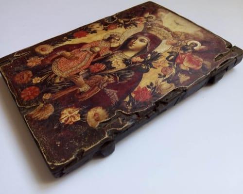 Икона Неувядаемый цвет ручной работы