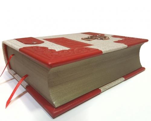 Библия в льняном переплете и отделкой из кожи –  Магазин Икон | Фотография 8
