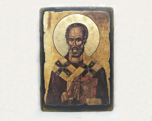 Икона Чудотворца под старину –  Магазин Икон | Фотография 6