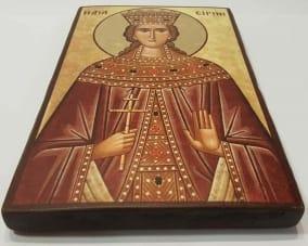 Икона Святой Ирины ручной работы