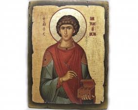 Икона Святого Пантелеймона ручной работы –  Магазин Икон | Фотография 1