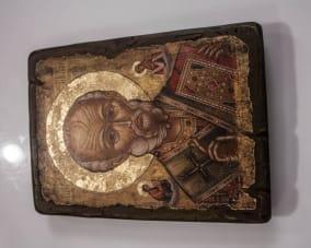 Икона Николая Чудотворца ручной работы