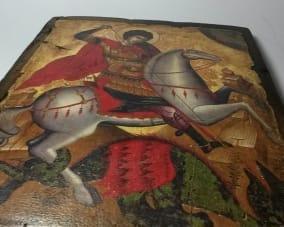 Икона Георгия Победоносца ручной работы
