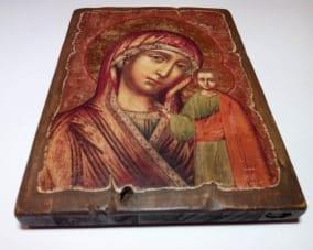 Деревянная икона Казанской Божьей матери