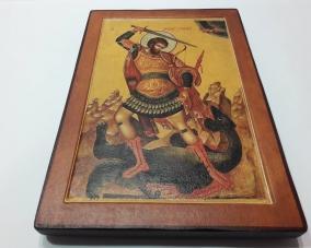 Икона Георгия Победоносца ручной работы –  Магазин Икон | Фотография 1