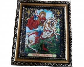 Иконы Георгия Победоносца бисером