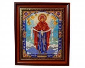Иконы бисером Покрова Богородицы