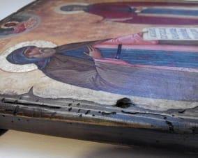 Икона Петра и Февроньи ручной работы