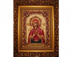 Ікона Семістрільна Богоматір бісером