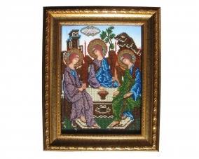 Иконы Святая Троица бисером