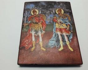 Икона Святых Феодора Стратилата  и Феодора Тирона