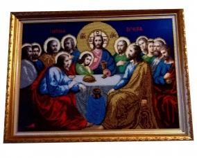 Иконы Тайная вечеря бисером
