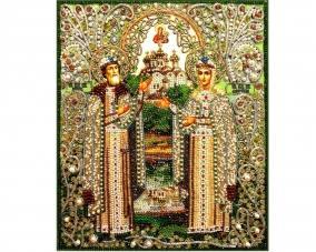 Иконы Петр и Феврония бисером