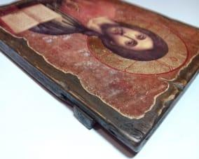 Икона Христа Спасителя ручной работы