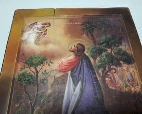 Икона ручной работы Моление о чаше