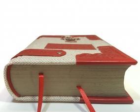 Библия в льняном переплете и отделкой из кожи –  Магазин Икон | Фотография 7