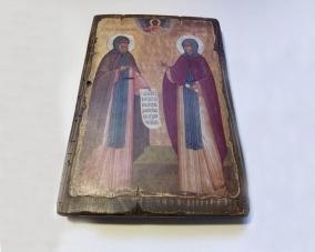 Икона Петра и Февроньи ручной работы –  Магазин Икон | Фотография 1