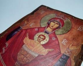 Икона Божьей Матери ручной работы