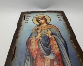 Ікона Святої Варвари ручної роботи