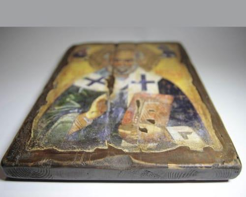 Икона Святого Николая ручной работы