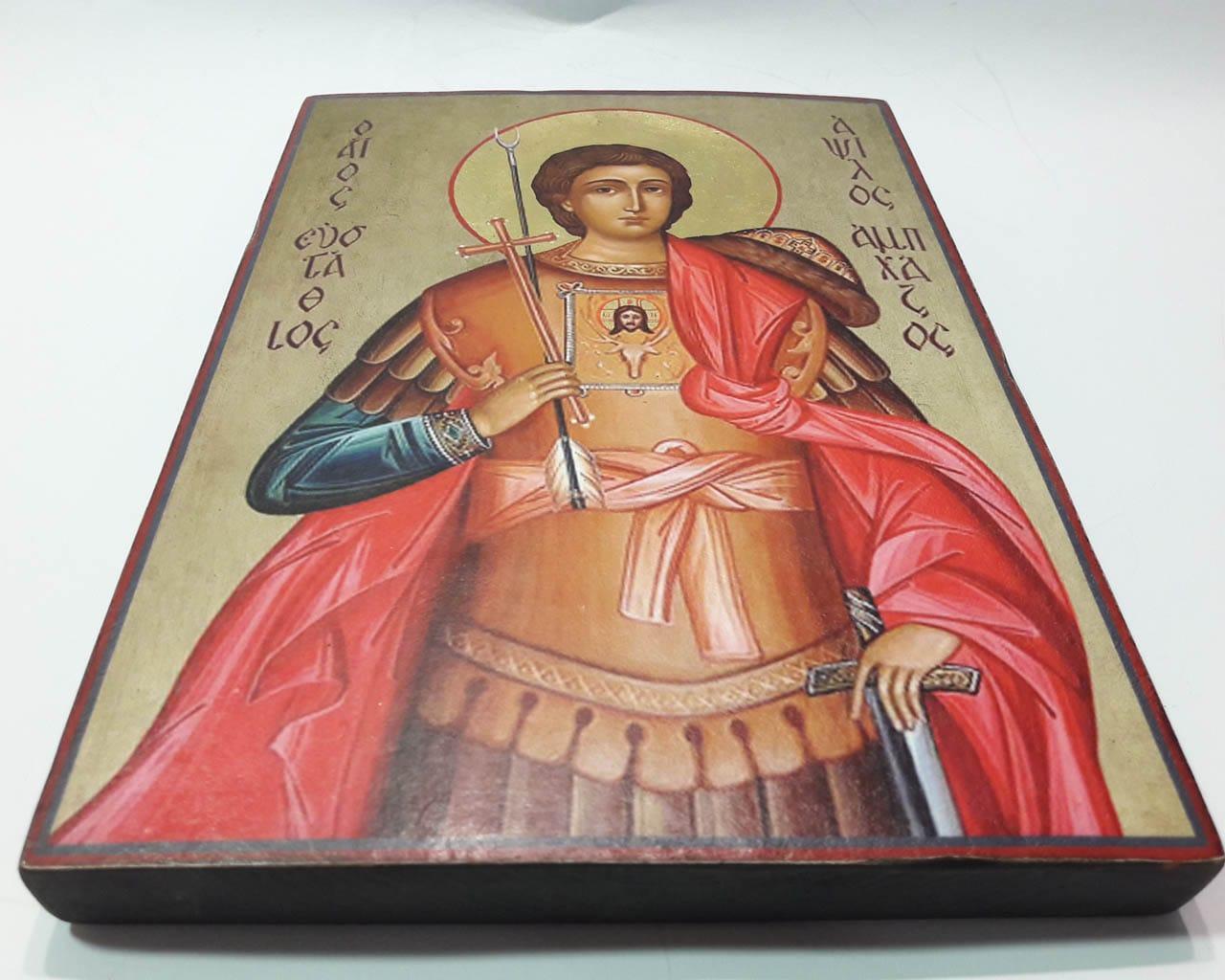 Ікона Святого Євстафія на рівній дошці. Title 21e216b5492a5